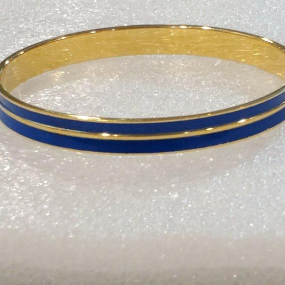 Monet Royal Blue Enamel Plated Gold Tone Metal